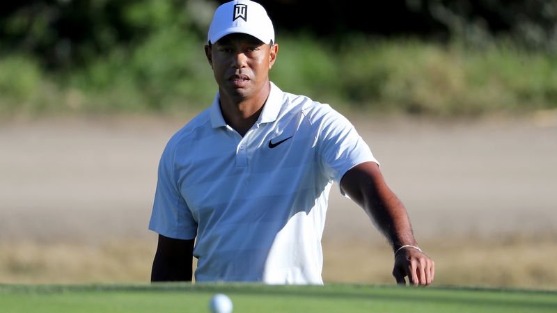 tiger woods frustrated by missing genesis open cut