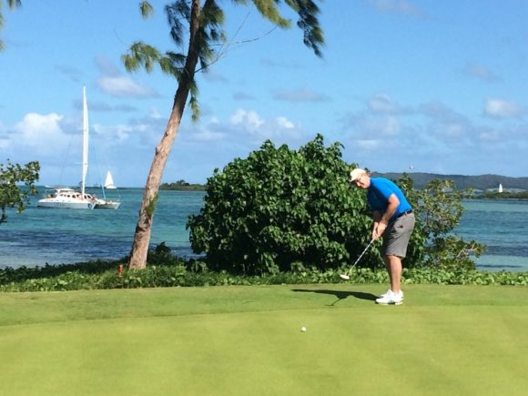 Mark On The Ile Aux Cerfs Golf Course Must Use
