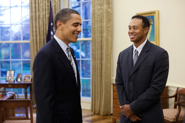 President Barack Obama Meets With Tiger Woods