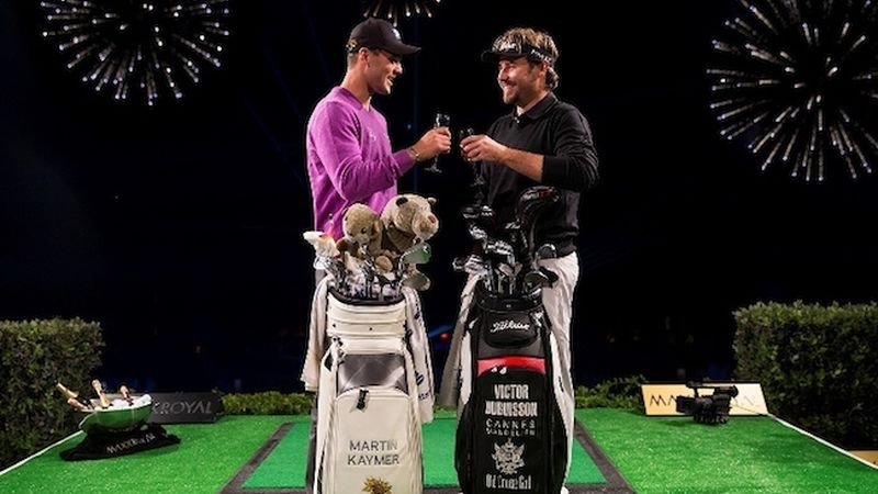 2014 11 Martin Kaymer And Victor Dubuisson Celebrate The Maxx Royal Target Challenge