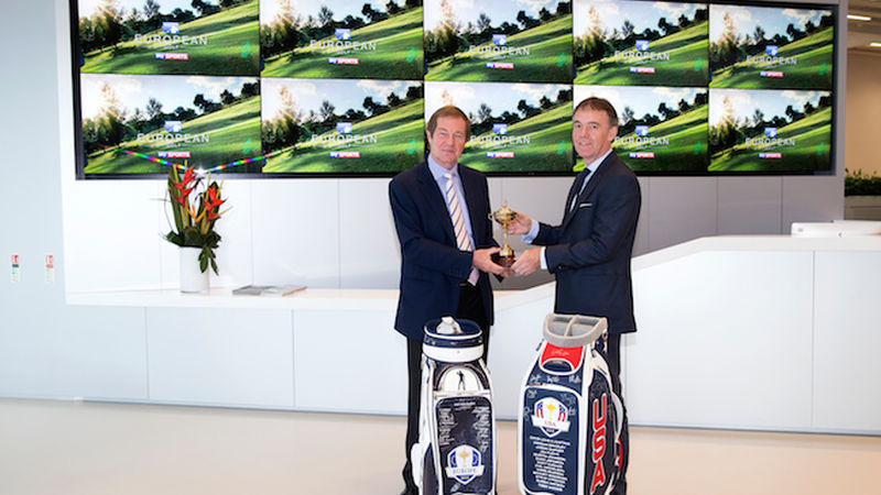 2014 09 George Ogrady Chief Executive Of The European Tour And Jeremy Darroch Bsky B Chief Executive