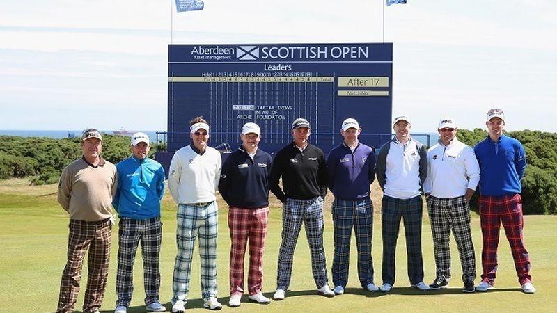 2014 07 Stars Stand Out In Tartan Trews For Charity Aberdeen Asset Management Scottish Open