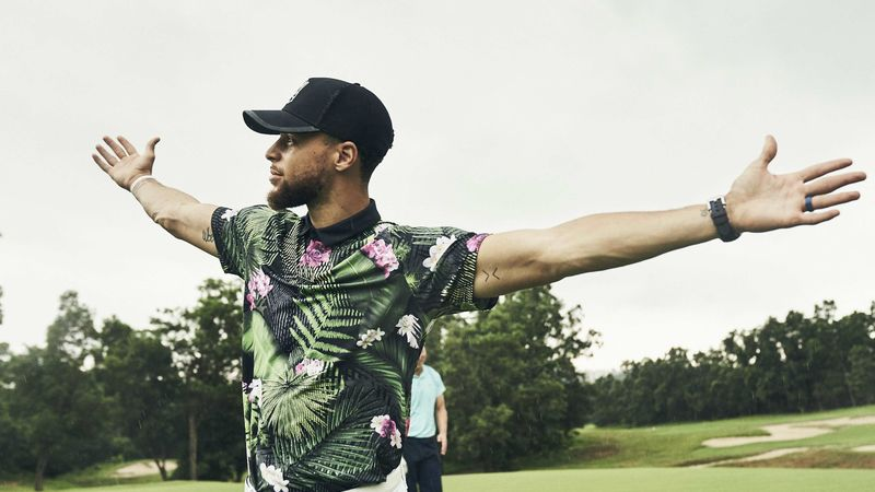 the latest f5d66 7900a Steph Curry debuts bold Under Armour apparel range ...