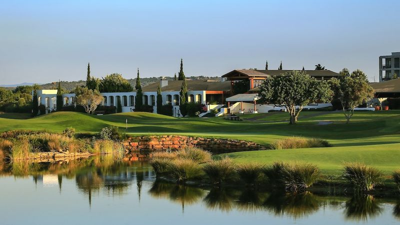 18Th Hole On The Dom Pedro Victoria Golf Course Home Of The Portugal Masters