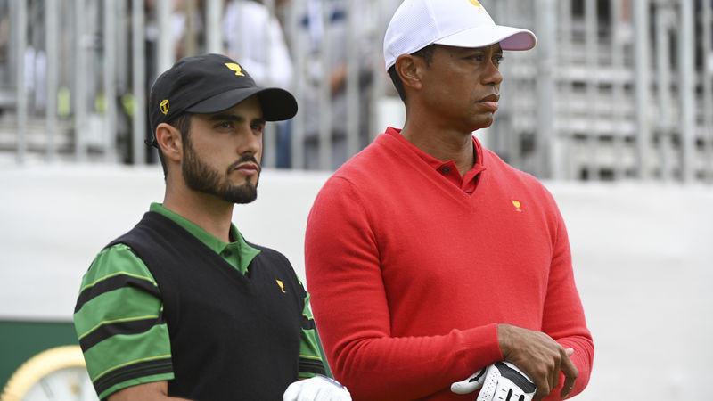 Abraham Ancer And Tiger Woods