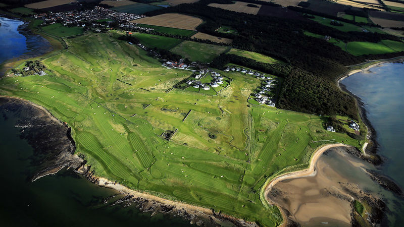 Kilspindie Links Aerial View