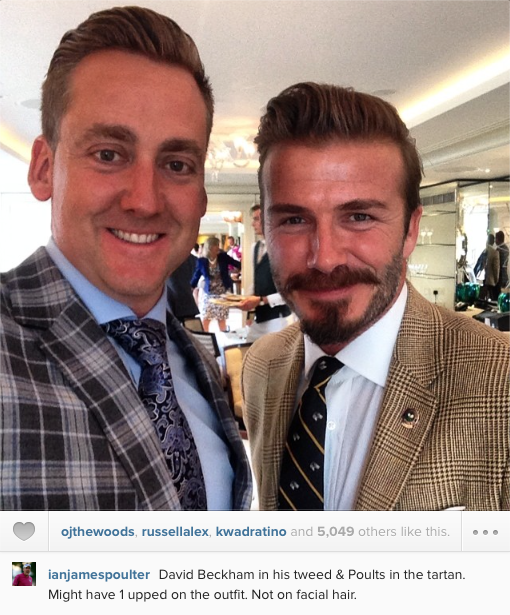 Ian Poulter mixing with sporting royalty at Wimbledon.