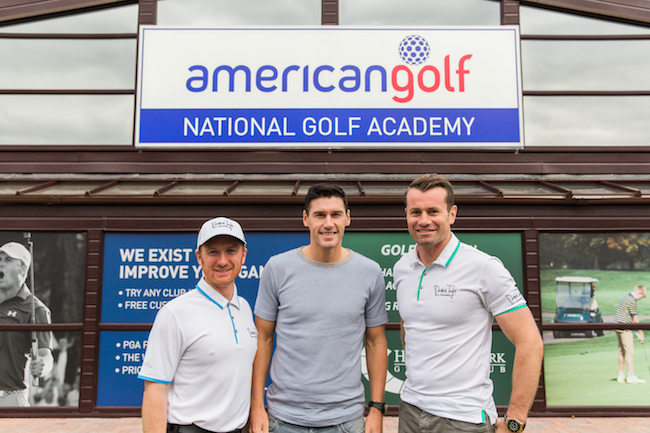 Academy Coach Damian Taylor & Gareth Barry & Shay Given