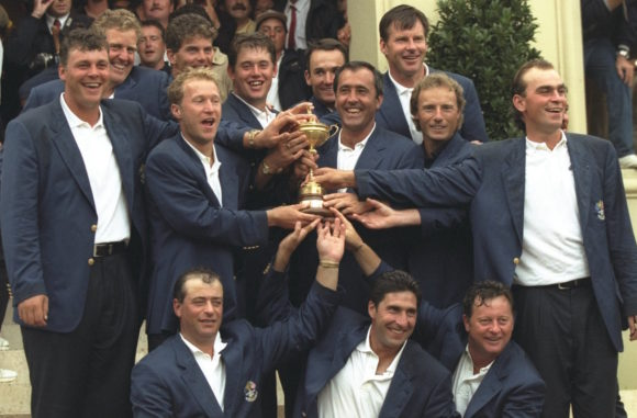1997 Ryder Cup Europe Celebrate Victory At Valederrama