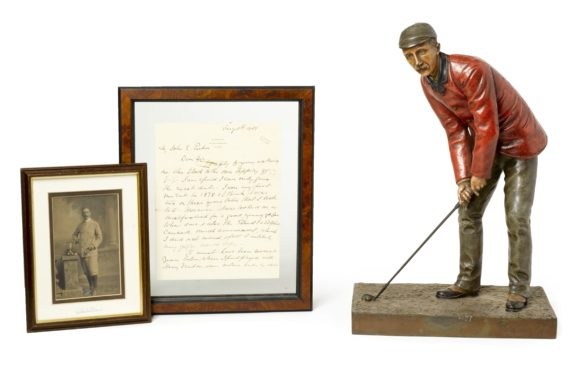 A Cold Painted Bronze Of Amateur Champion Johnny Laidlay 1895