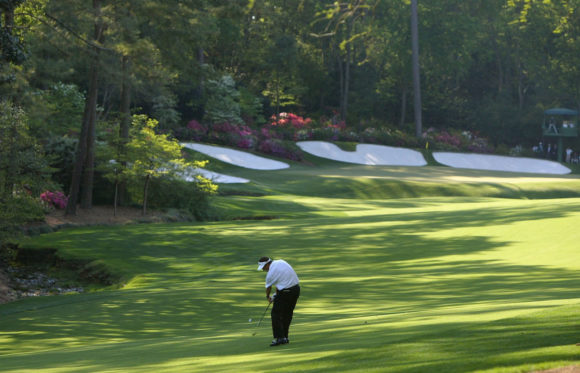 Approach Into 13Th Green At Augusta