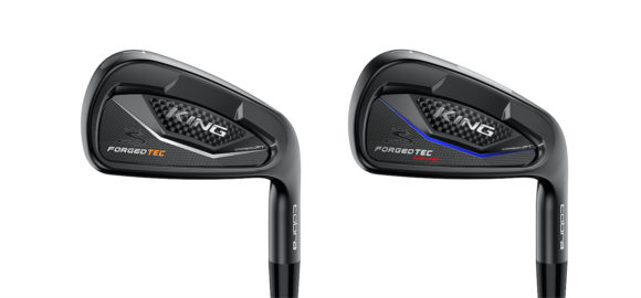 The new Cobra KING Forged TEC Black irons