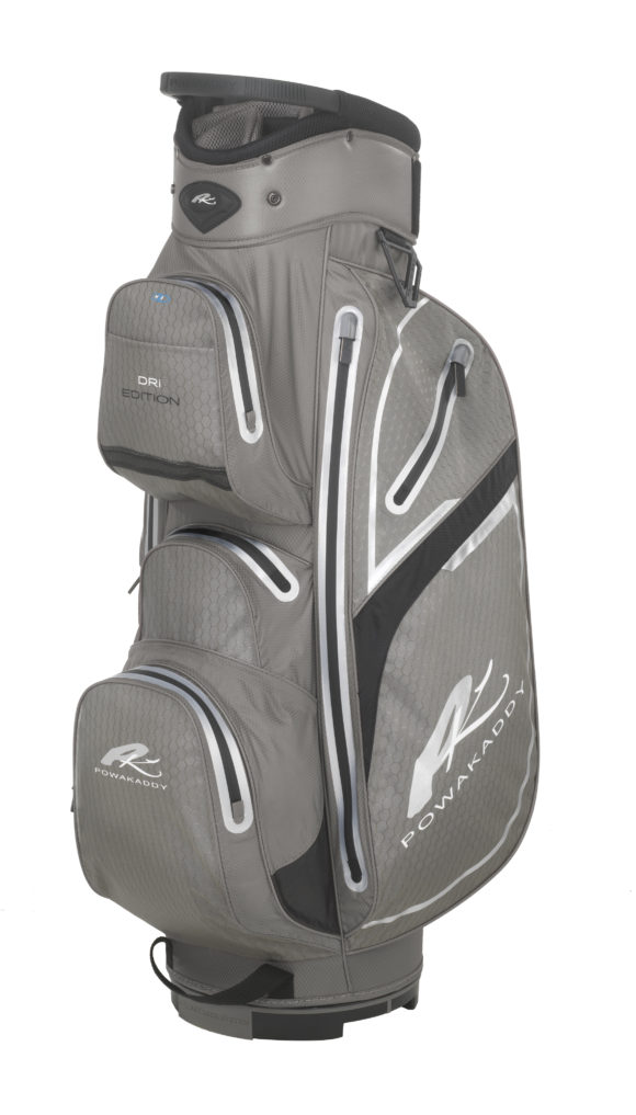 Dri Edition Cart Bag Gunmetal Black 3 4 Angle