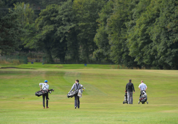Golfers At Musselburgh