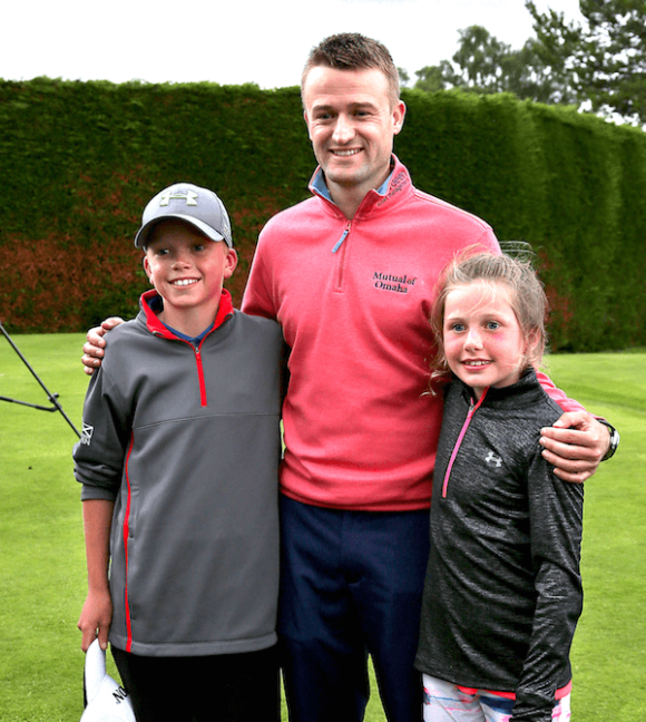 Inverness Golf Club Russell Knox With Two Junior Golfers