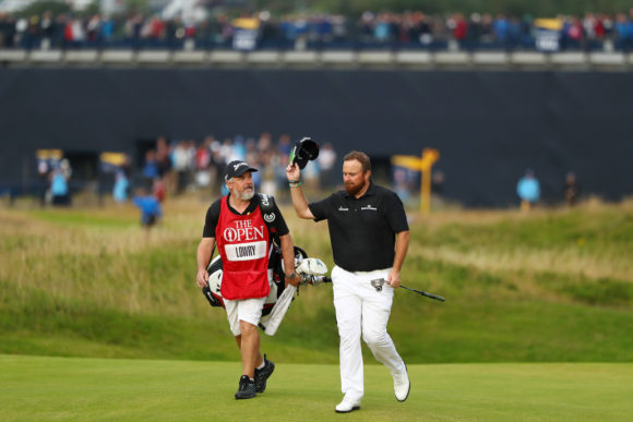 Lowry And Caddie At 18
