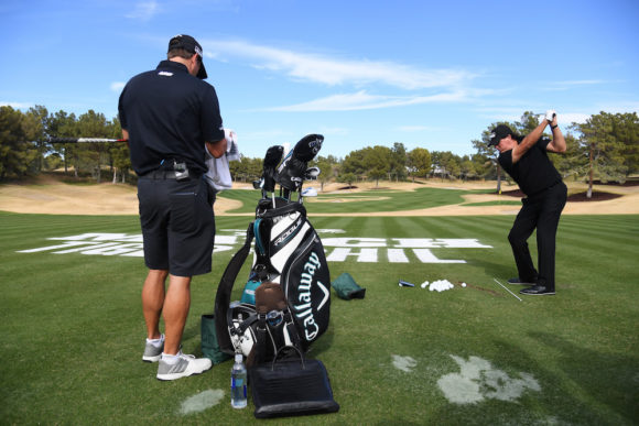 Phil Mickelson wins The Match using Odyssey Prototype putter...