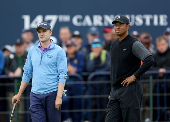 Russell Knox And Tiger Woods