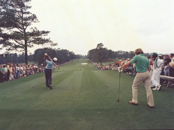 Seve Ballesteros Teeing Off At Augusta In 1980