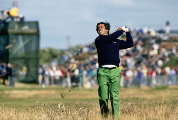 Seve Plays From Rough At 1988 Open