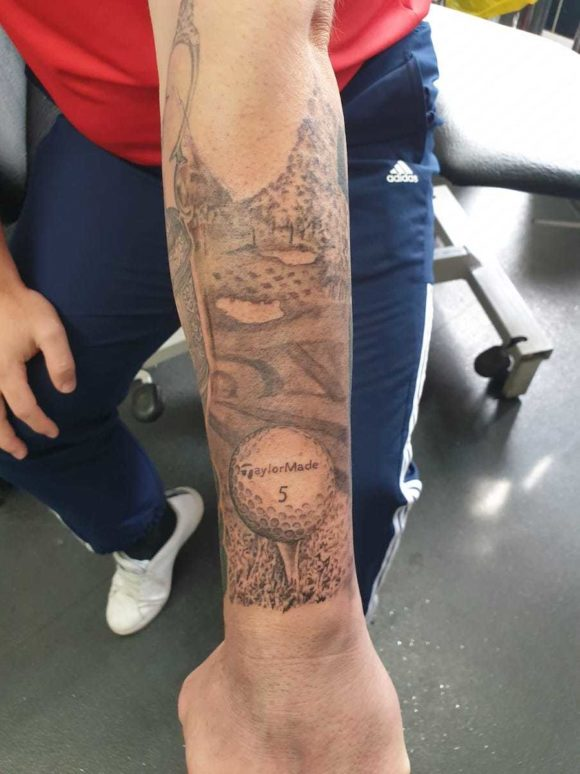 Why I Got A Taylormade Ball Tattooed On My Arm Bunkeredcouk