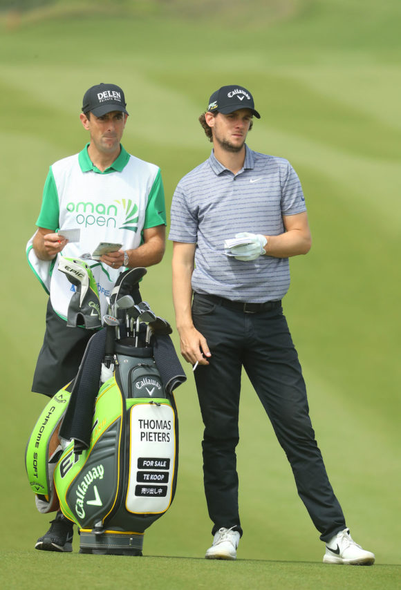 Thomas Pieters With Caddie