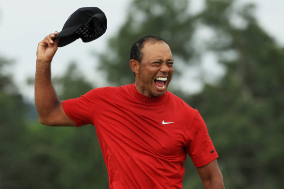 Tiger Woods Celebrates 2019 Masters Win