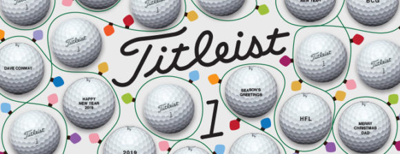 Treat the golfer in your life to peronalised Titleist balls this Christmas