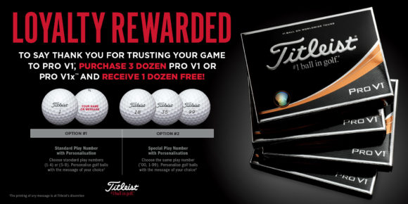 Titleists Loyalty Rewarded Promotion Returns For 2018