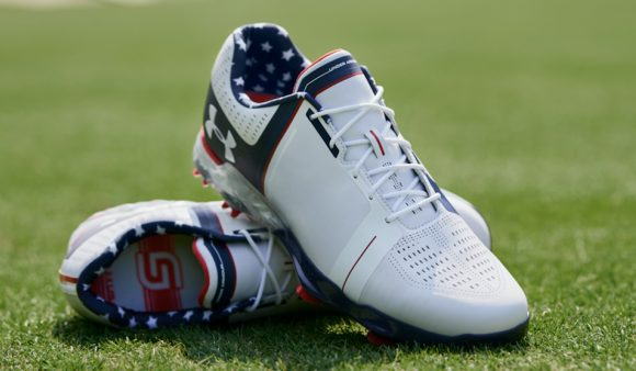 Did you notice Jordan Spieth's patriotic shoes?