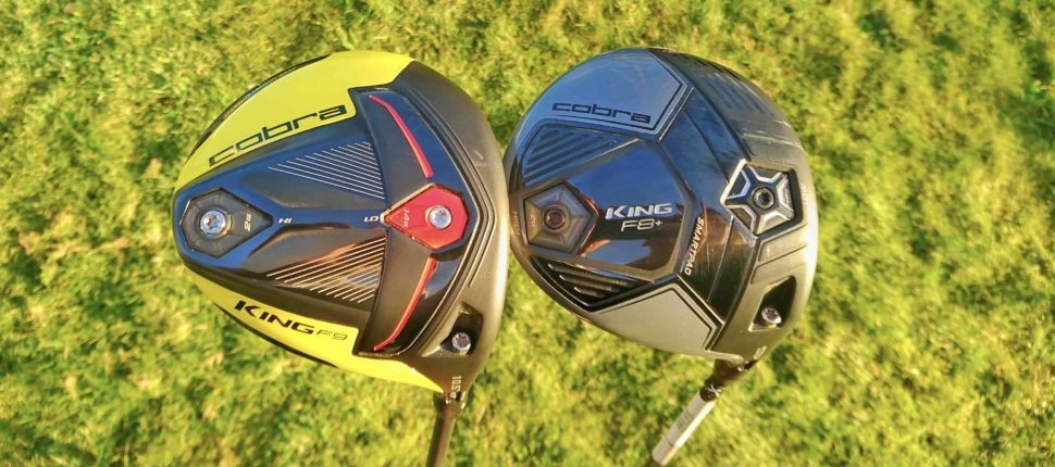 Cobra KING F9 SPEEDBACK vs KING F8+ drivers - bunkered co uk
