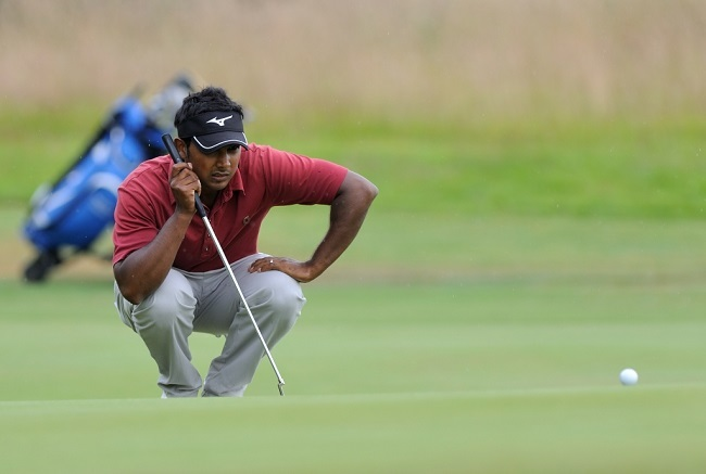 The Buildbase Open - Frilford Heath GC - 27/6/14- Picture : Frank Coppi / Matchroom Sport Neil Chaudhuri