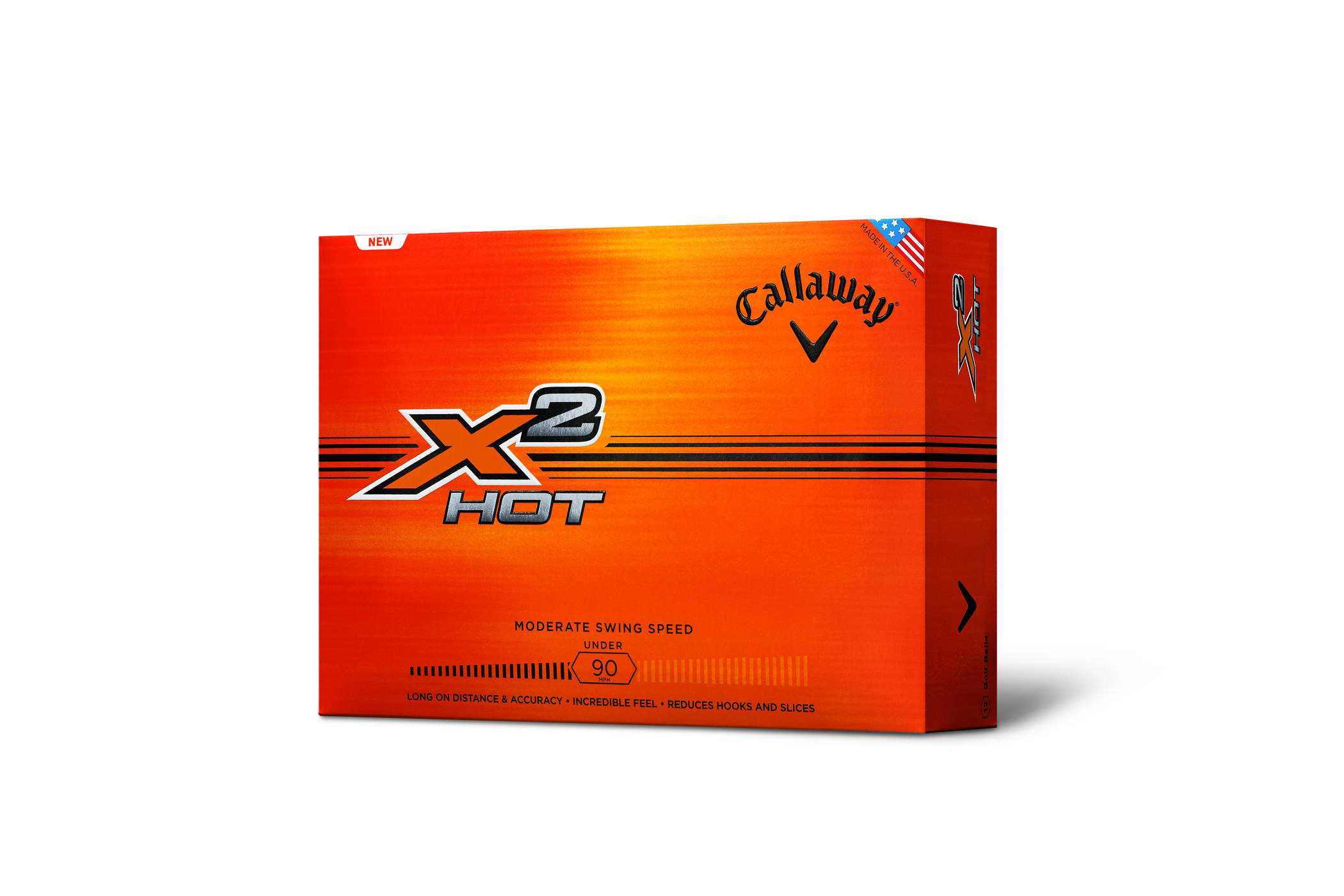 Callaway X2 Hot and Supersoft balls