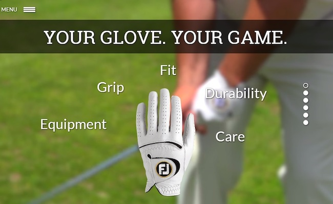FootJoy unveils new glove microsite