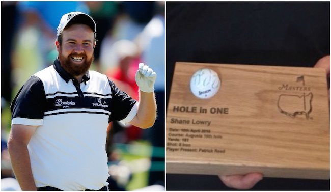 GEAR SHORTS Lowry's Masters ace ball sells for €5k